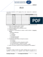 TP N°2 - Statistique Descriptive S1 - Section F