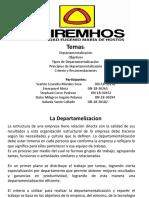 Presentacion Departamentalizacion