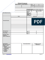 Method Statement Format for Mep
