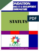 STATUTS de la FADEC Gabon revisé en AGEX NOV 2018