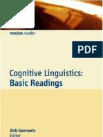 Cognitive Linguistics Geeraerts Al Eds 2006