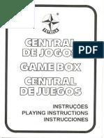 """Manual - Jogo """"Central de Jogos""""- Estrela anos 80"""
