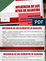PRESENTACION 7 MATERIALES INGENIERIA - Aleantes aceros