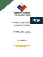 DGA 2004 Diagnostico y clasificacion segun calidad Cuenca Lauca