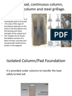 Isolated Col or Pad Foundation