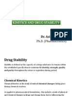 Kinetics and Stability testing of the drugs