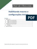 2. Habilitar Macros do Office e configurações iniciais