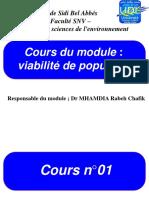 Cours Viabilité des Population Dr MHAMDIA M1