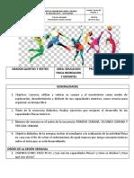 ORGANIZACION DE ACTIVIDADES DE CLASE I.M.B.C