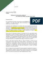 Carta de despido por abandono del puesto de vigilancia BIAKO