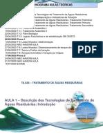 aula 1 Introdução Trat aguas residuarias