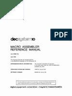 AA-C780C-TB Macro Assembler Reference Manual Apr78