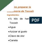 Cómo preparar la Mazamorra de Tocosh