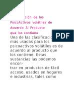 clAsificAción de los PsicoActivos volátiles de Acuerdo Al Producto