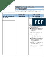 Estudio de caso - Gestión de un AVA utilizando el ciclo