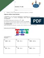 5° año  -  Matemática  -  Guía división