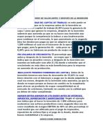 INDUCTORES DE VALOR ANTES Y DESPUÉS DE LA INVERSIÓN