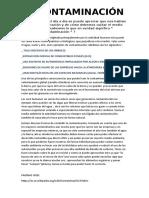 TAREA   LA CONTAMINACIÓN (1)