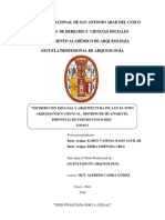 DISTRIBUCIÓN ESPACIAL DE ARQUITECTURA INCA EN EL SITIO ARQUEOLÓGICO CHUNCAL