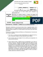 guía de español 1 y 2 semana II periodo