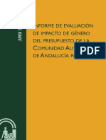 Informe Impacto Gnero Ppto Andalucia 2011