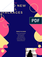 Blue and Yellow Travel Package Cool Presentation