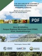 REPORTE Gira Parque Municipal Zunil