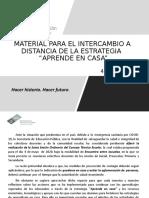 INTERCAMBIO DE ESTRATEGIAS A DISTANCIA  presentacion