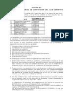 ACTA DE COSTITUCION DE UN CLUB