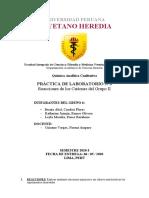 (Q. Analítica Cualitativa) Laboratorio N°3; Reacciones de los Cationes del Grupo II.docx
