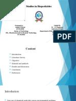 studies in biopesticides