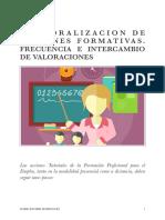 FORO DE DEBATE. TEMPORALIZACIÓN DE ACCIONES FORMATIVAS