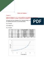 Ejercicios de Cinetica quimica(Volumen del reactor)