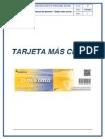 Manual Tarjeta Más Cerca