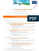 RDV Marketing Durable 3 Juin 2009