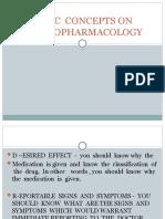 BASIC CONCEPTS ON PSYCHOPHARMACOLOGY