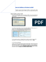 How to Define a Printer in SAP