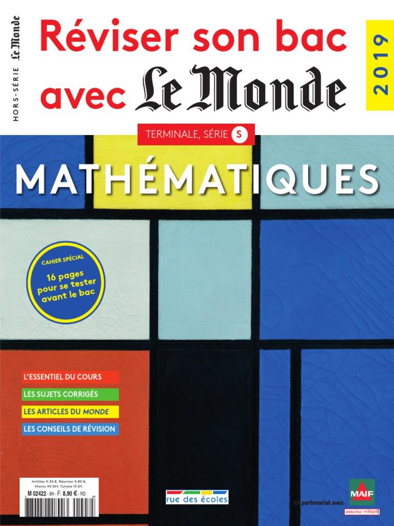 Reviser Son Bac Avec Le Monde Mathematiques Pdf Sequence Limite Mathematiques