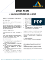 ADEADV1042 Quick Facts & T&C - Forklift 1 Day Licence Course