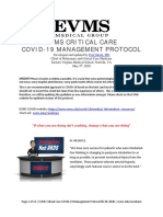 COVID-19 Protocol by EVMS