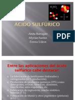 Exposición de ácido sulfúrico