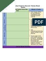 weekly progress sheet week 4