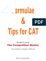 Formula & Tip for CAT