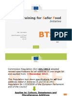 A3.03 Specifications of food additives