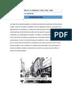 Sociedad desarrollo urbano Lima 1900 1980