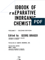 Handbook of Preparative Inorganic Chemistry Vol 1 2d Ed - George Brauer