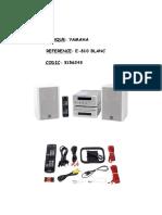 Yamaha E810 User Manual