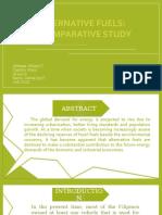 ChE-2102-Alternative Fuels A Comparative Study