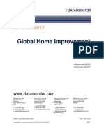 Home Improvement Industry Data Monitor