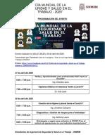 Programación del Día de SST 2020 - ESST UNMSM
